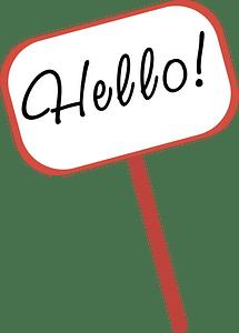 Hello board clipart