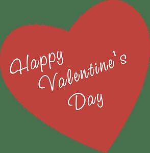 Saint valentine heart clipart
