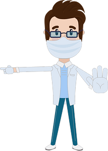 Doctor give an instruction clipart