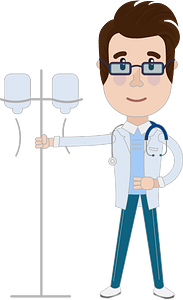 Doctor with dropper clipart
