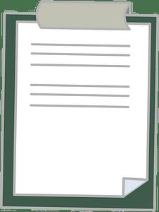 Document holder clipart