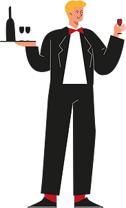Man waiter clipart