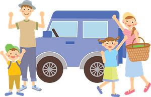 Family is Ready for a Road Trip clipart