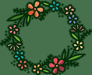 Flower wreath clipart