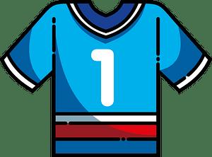 Football jersey immagine clipart