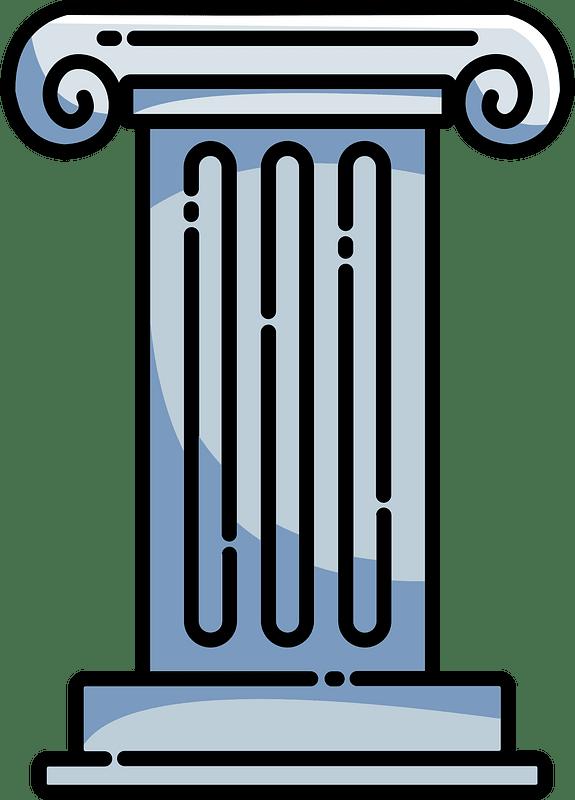 Greek pillar clipart