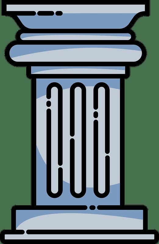 Roman pillar clipart