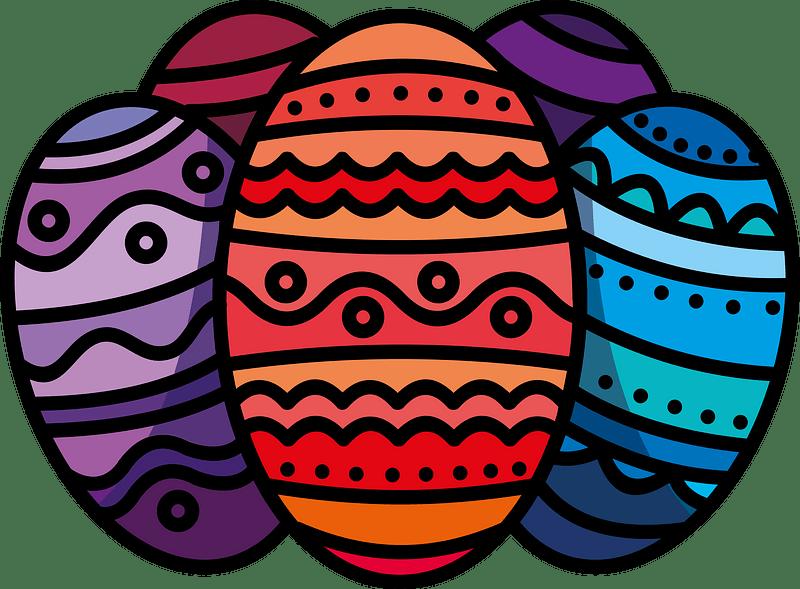 Easter eggs clipart