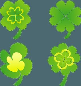 Four Leaf Clover Designs clipart