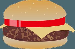 Fast Food Cheeseburger clipart