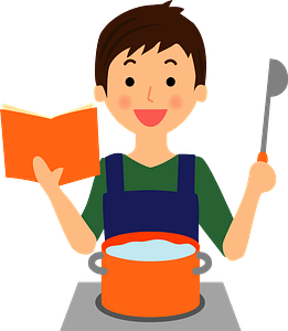 Man is Cooking clipart