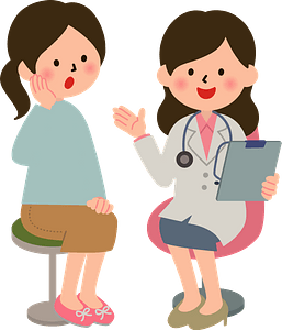 (Melanie) Medical Doctor with a Patient clipart