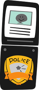 Police ID Badge clipart