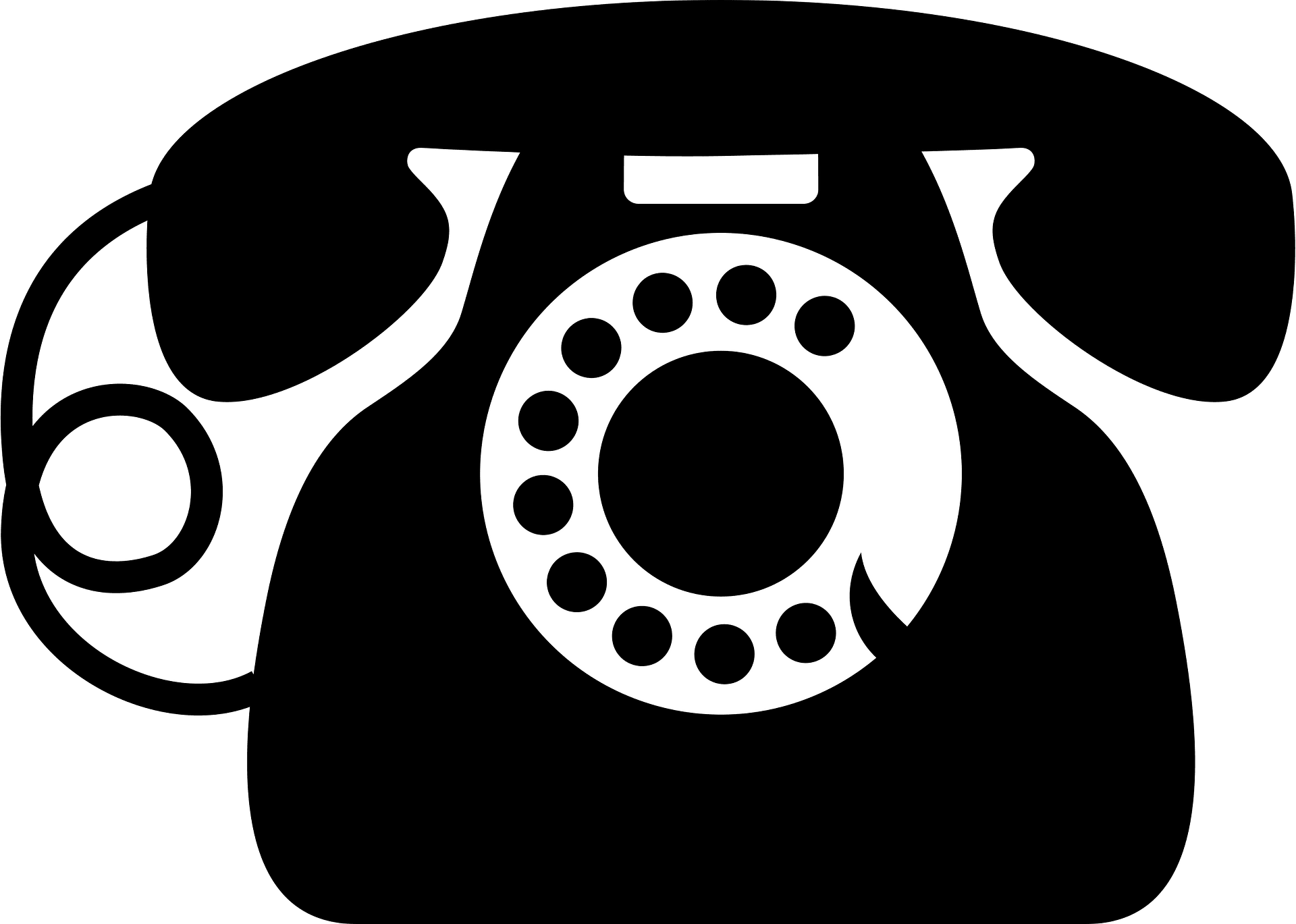 Rotary Dial Telephone Black And White Clipart Free Download Transparent Png Creazilla