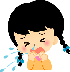 (Emma) Girl is Sick with a Cold and Sneezing clipart