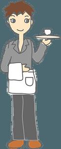 Waiter Man clipart