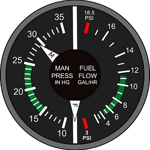 Manifold Pressure and Fuel Flow clipart