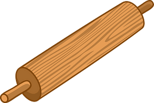 Rolling pin clipart