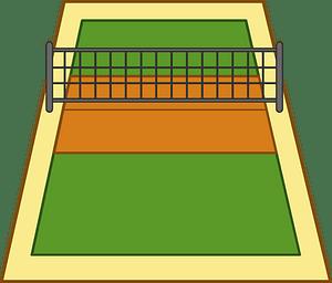 Volleyball court 클립 아트