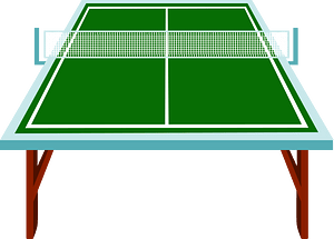 Table tennis table clipart