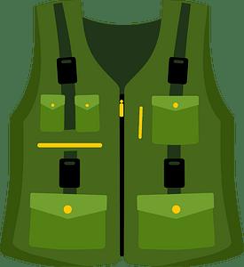 Fishing vest clipart