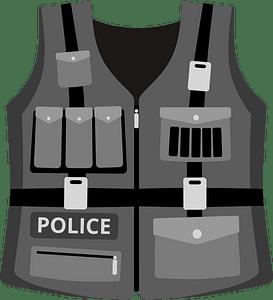 Police vest clipart