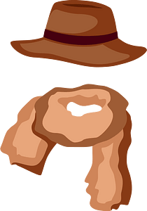 Hat and scarf clipart