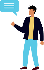 Person speaking clipart