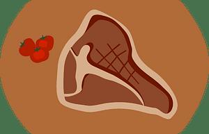 T-bone steak clipart
