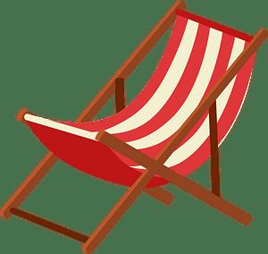 Beach chair clipart