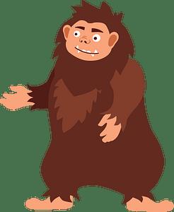 Bigfoot clipart