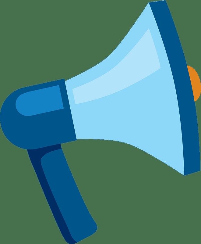 Cheer megaphone clipart