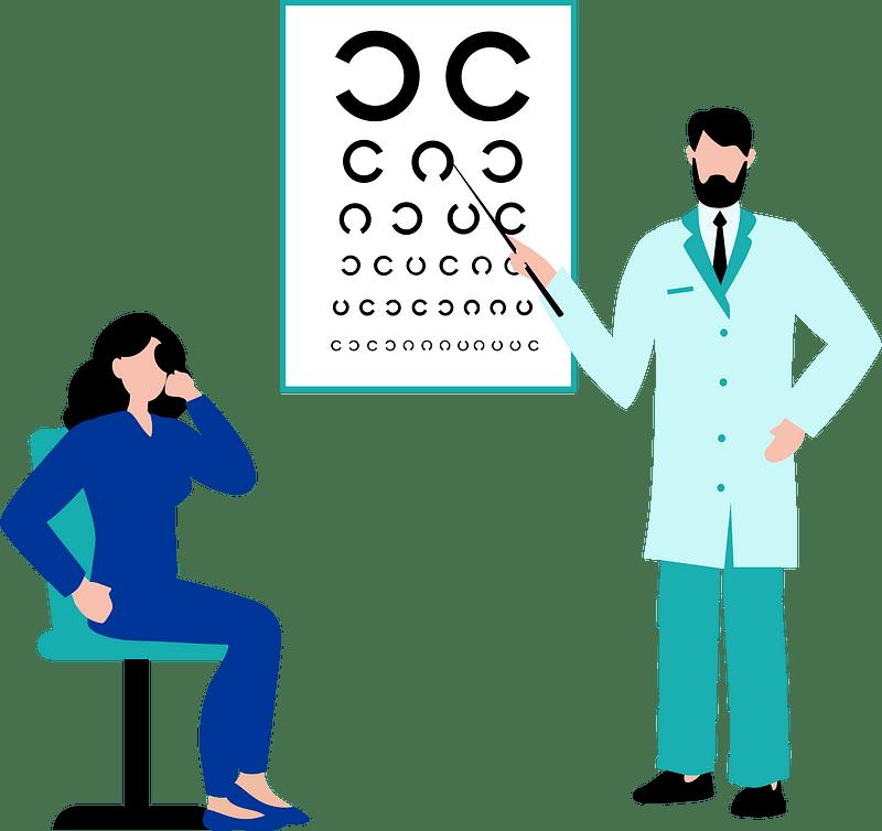 Vision screening clipart