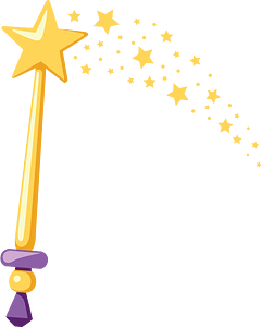 Magic wand clipart