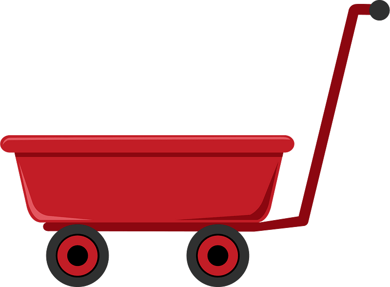 Red wagon clipart
