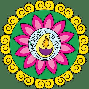 Diwali rangoli clipart