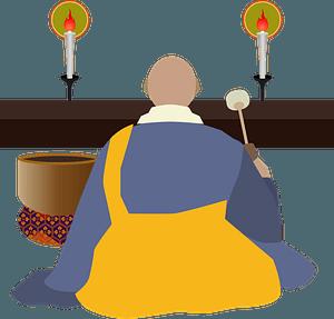Buddhism Monk clipart