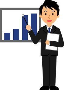 (Pete) Businessman is Explaining clipart