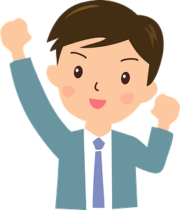 (Jed) Businessman is Pumping a Fist clipart