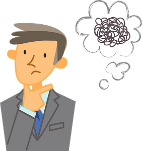 (Fred) Businessman is Thinking clipart
