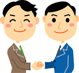 (Fred) Businessmen are Shaking Hands clipart