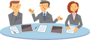 Business Persons are Meeting clipart