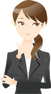 (Kathleen) Businesswoman is Thinking clipart