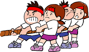 Children are Playing Tug of War clipart