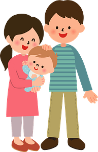 Father Baby Mother Family clipart