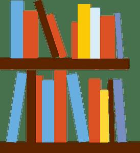 Book shelves clipart