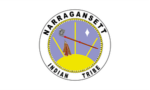 Flag of the Narragansett Indian Tribe of Rhode Island clipart