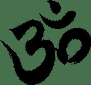 Aum calligraphy clipart