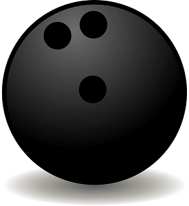 Ten Pin Bowling Ball clipart