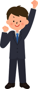 (Pete) Businessman is Pumping a Fist clipart